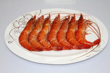 COOKED HEAD-ON SHELL-ON BLACK TIGER SHRIMP